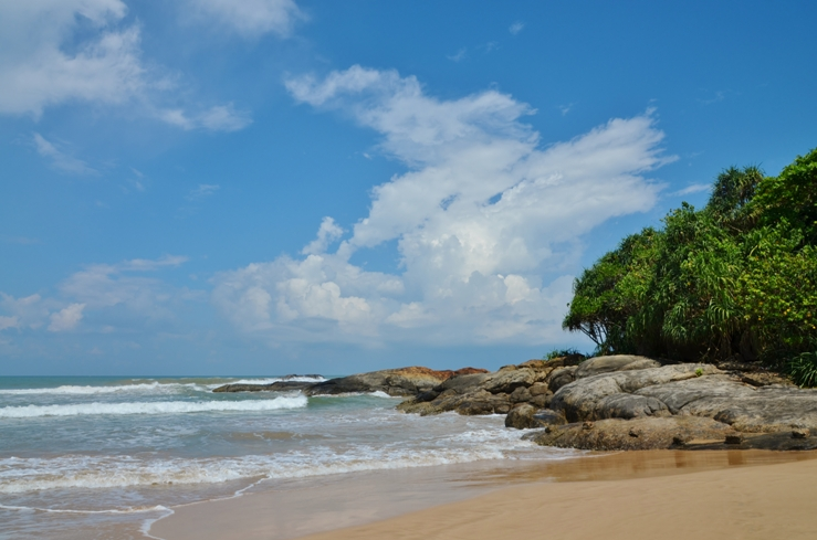 Benatota beach, one of the prettiest beaches in Sri Lanka